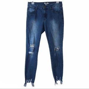 Blue Rope distressed cropped skinny denim jeans